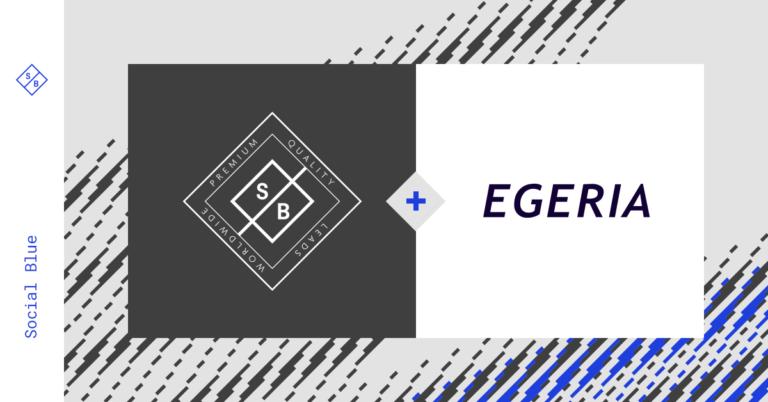 Social Blue kiest Egeria als strategische partner om de wereldwijde marktleider in leadgeneratie te worden